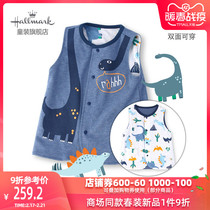 Hallmark Hermann childrens clothing 20 spring and autumn children children children yangqi cotton clip in double-sided vest vest