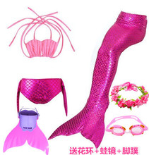 Mermaid tail Korean children princess can be fitted with flippers, hot spring clothes, girls bikini baby swimsuit.