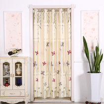 Free punch curtain partition curtain home bedroom curtain wind decoration fitting room bathroom kitchen cloth