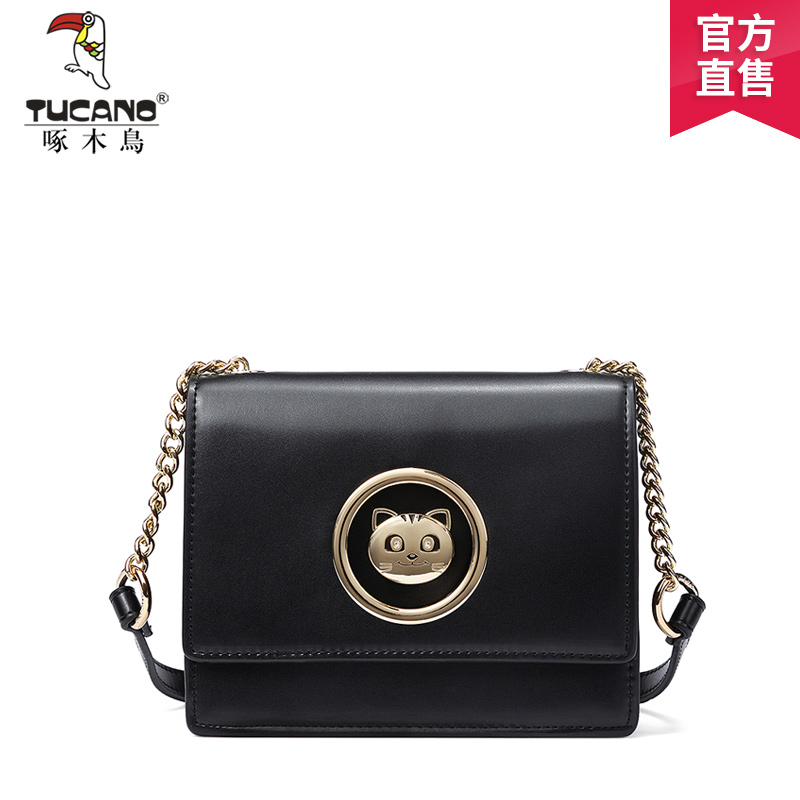 Woodpecker lady bag 2019 new Korean version chain bag Korean version slant bag fashion simple one-shoulder lady bag tide