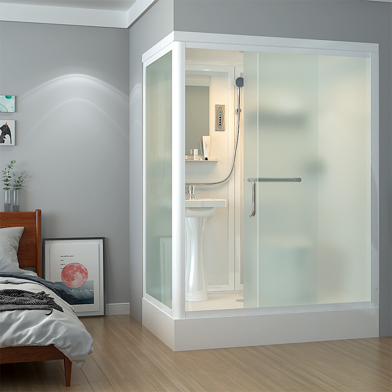 Integral bathroom with toilet, household partition glass bathroom, integrated bathroom and bathroom