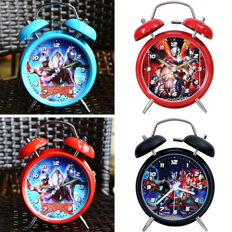 Children's Desktop Lovely Working Primary School Students Use Digital Boy Alarm Clock to Learn Bedside Clock Superman