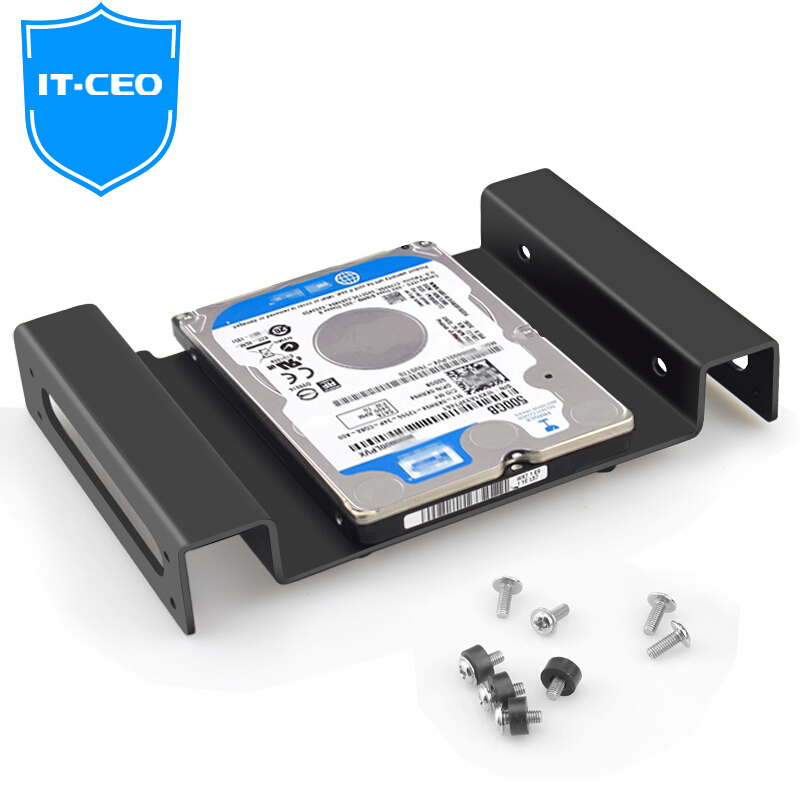 IT-CEO CD Drive Hard Disk Bracket 2.5/3.5 inch Desktop Computer Machinery Solid State SSD Hard Disk Bracket