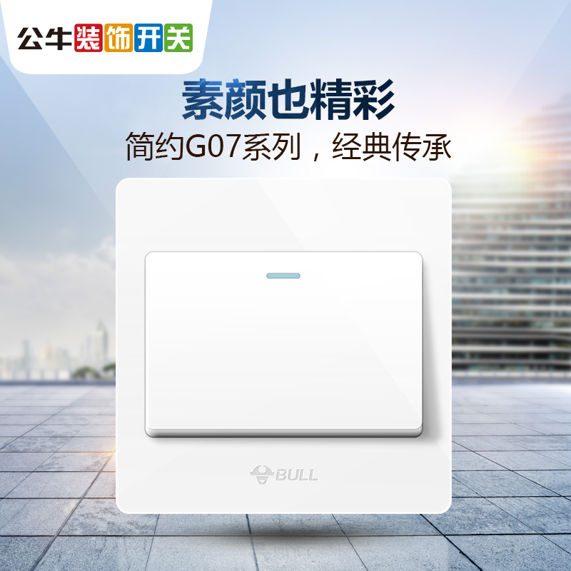 Bull Switch Socket Single Open Dual Control Switch 1 Open One Open Dual Control Switch One One Dual Control Panel G07
