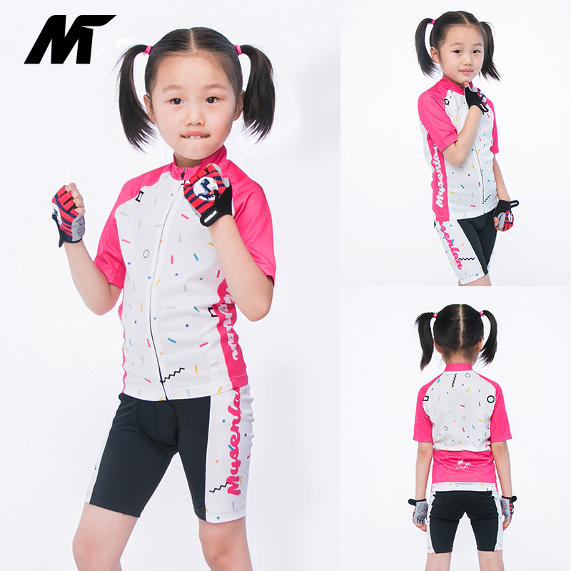 New Summer Boys and Girls'Short-sleeved Cycling Suit in Maisenland