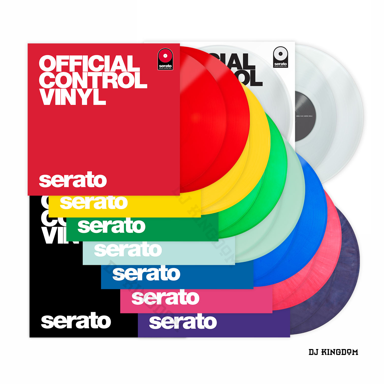 Serato DJ Time Code Pair Ryan Digital Black Rubber Control Vinyl Color Two-piece Package