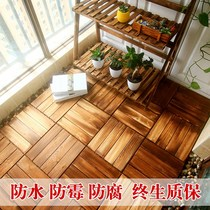 Balcony anti-corrosive wood self-assembled floor Outdoor terrace outdoor waterproof floor decoration sunshine house ecological villa