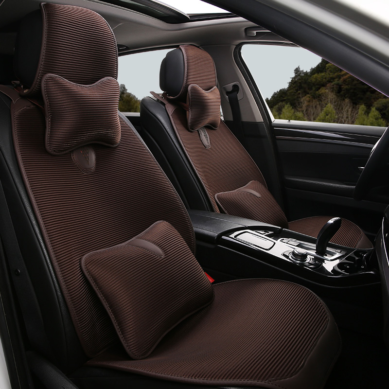 Car cushion four seasons universal seat cushion half surrounded by the new non-slip breathable summer cool mat ice silk car cushion seat cover