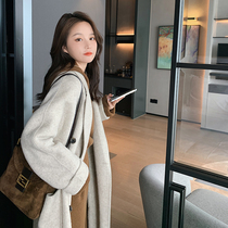 2021 new autumn and winter double-sided cashmere coat womens long high-end woolen coat wool double-sided