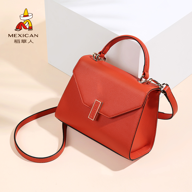 Scarecrow bag female 2018 new shoulder bag Messenger bag Korean version of the tide small handbag Kelly bag girl wild