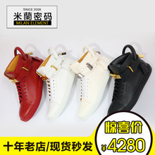 Multicolored spot Italian calf Buscemi 100MM Flat men's and women's lock lovers high casual casual shoes