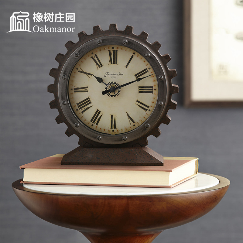 European Creative Gear Seat, Clock, Table, Clock and Watch Pendulum
