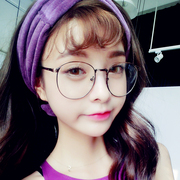 Increase the number of female round glasses frame Korean retro round flat frames with wave radiation of myopic eye male