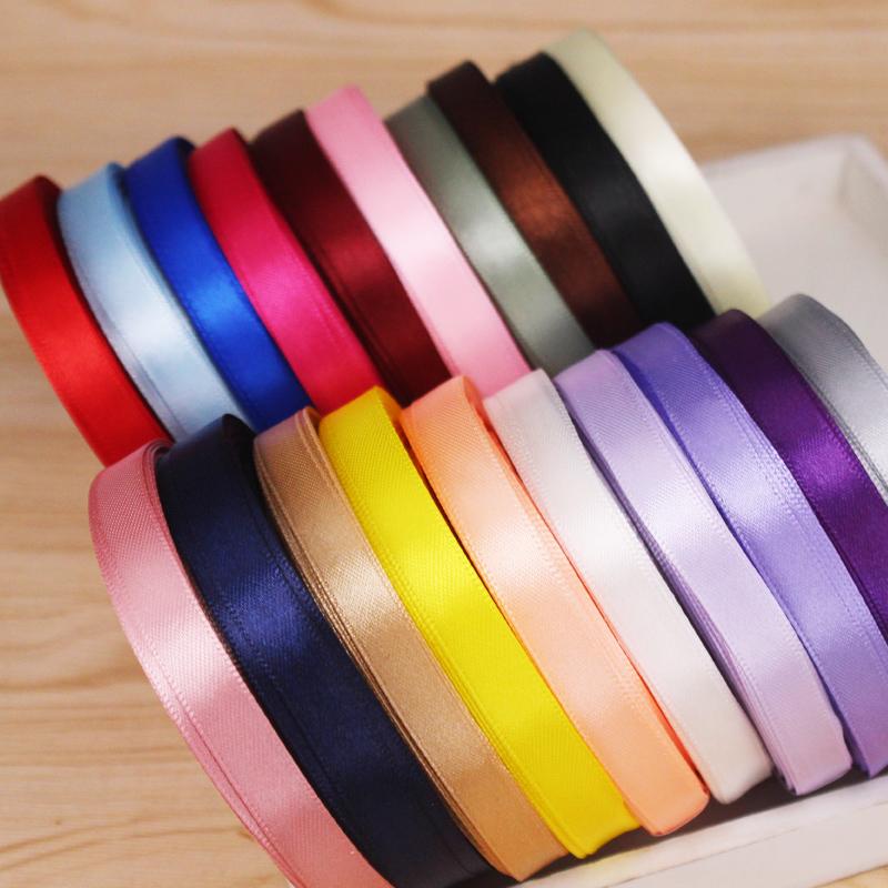 DIY材料1.5cm 15mm单面 DIY蝴蝶结髮饰 缎带织带丝绸带整卷出售