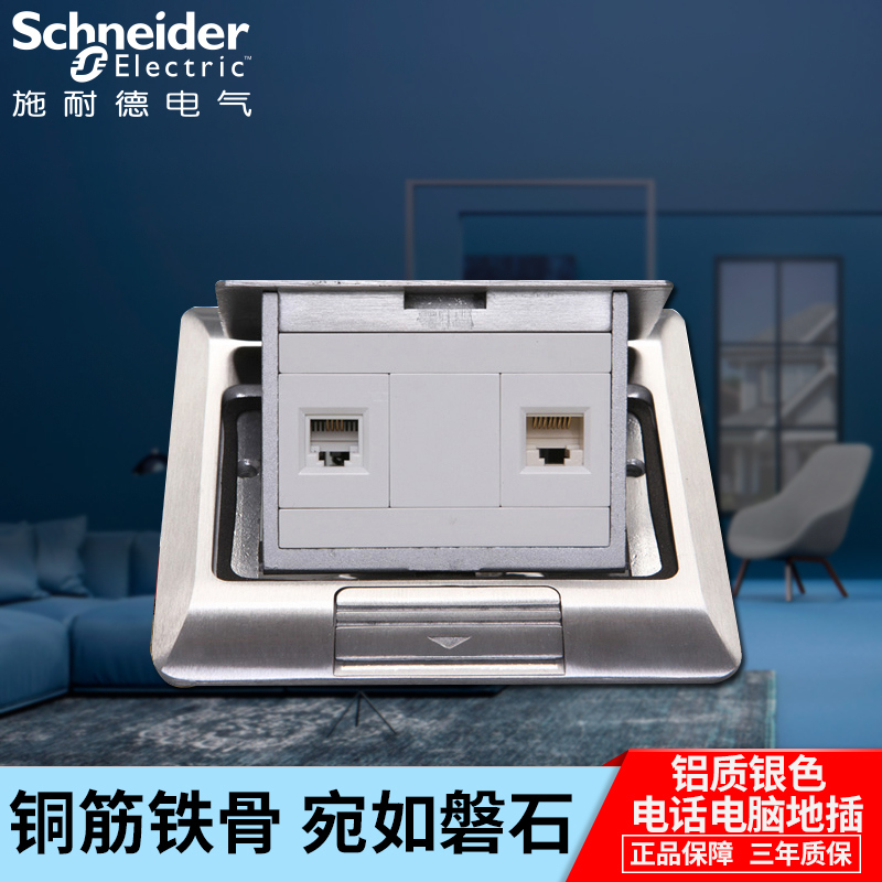 Schneider socket damper hidden telephone computer socket aluminium ground socket network interface socket