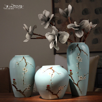 Jingdezhen Modern New Chinese Ceramic Vase Arrangement Living Room Flower Arrangement Dry Flower Wine Cabinet Point Home Decoration