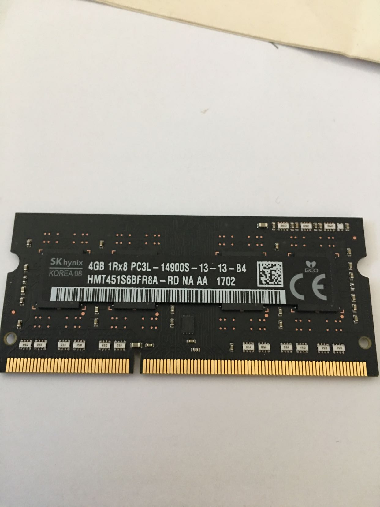 SK Hailishi 4G DDR3 1866 PC3L-14900S Laptop Memory Compatible DDR3 1600 4GB