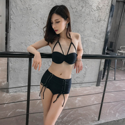 Korean version of the new female sexy swimsuit steel support gather split triangle hot swimwear bikinis