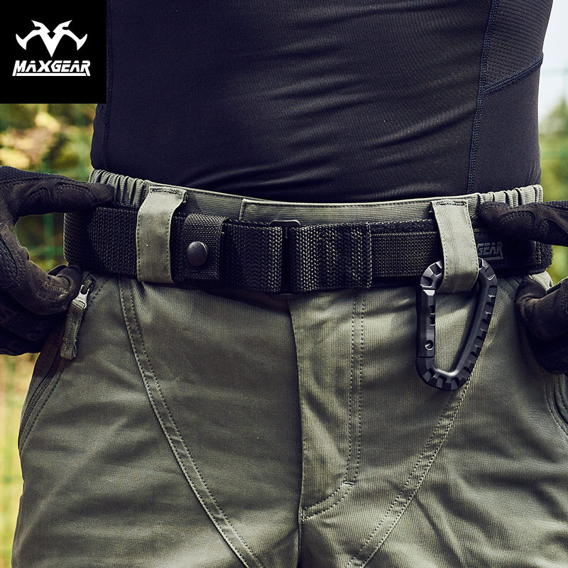 MacGyver special secret inner belt male nylon outdoor casual belt black eagle tactical belt military fan belt