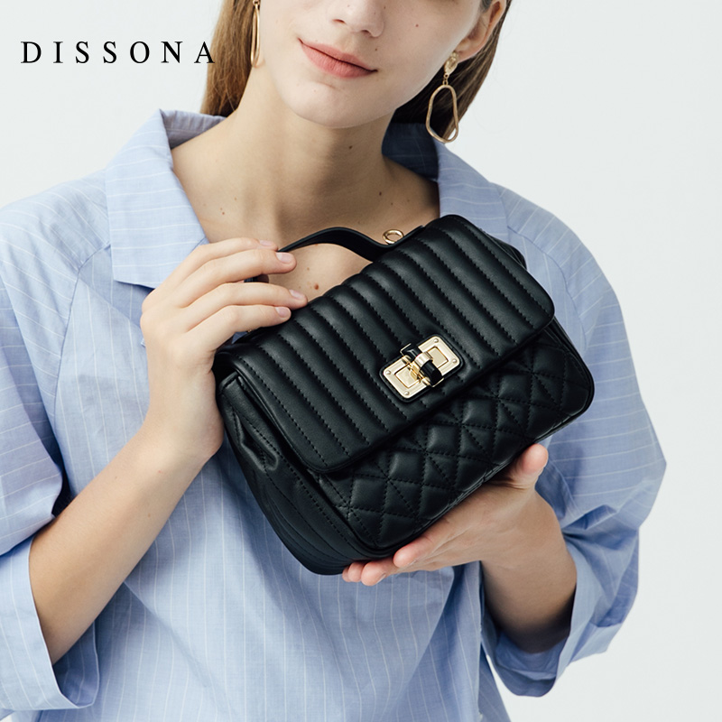 DISSONA DISSONA Handbag Slanting Woman's Bag Leather Single Shoulder Bag Small Fragrance Linger Chain Bag Moisture