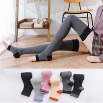 Leg protection socks Womens over-the-knee socks Autumn and winter thickened long tube pressure significantly leg thin socks Korea half foot high