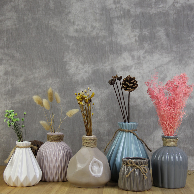 Ceramic Creative Fashion Vase Modern Simple Porcelain Living Room Decoration Home Decoration Dry Flower Arrangement