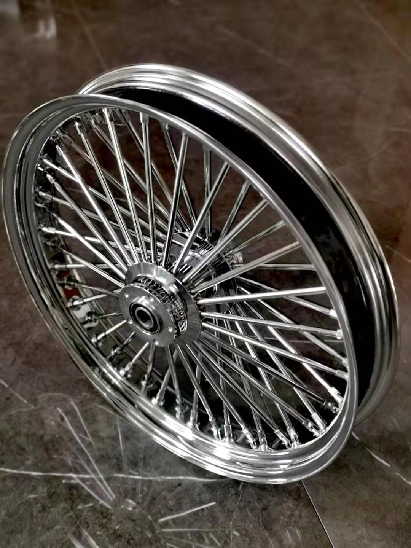 spoke Harley modified gang fat boy soft tail gliding coarse spoke front wheel hub 16 inch 21 inch
