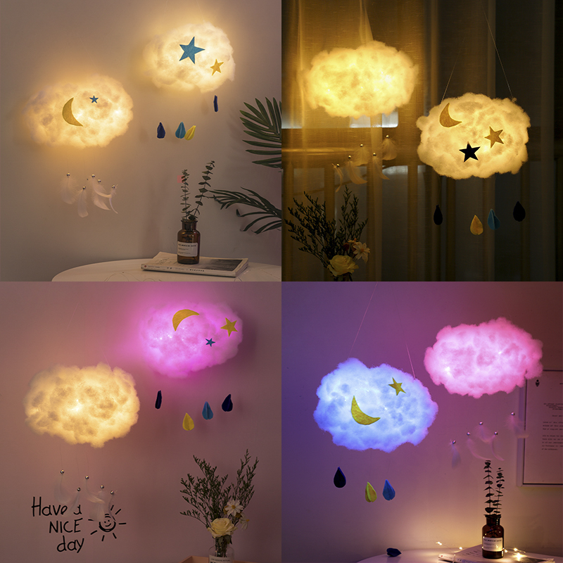 Cloud Lamp Diy Material Handmade Girl Heart Bedroom Hanging Decoration Aerial Ring Creation Kindergarten Hanging Ornaments