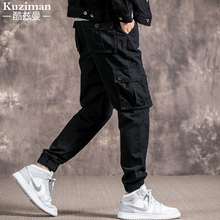 Workwear Pants, Men's Chao Brand Leisure Pants, Men's Loose Straight Bottom Bottom Pants, Fall-style Pants, Men's Korean Edition Trend, 2019