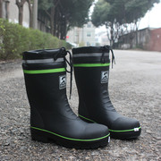 Male boots in tube slip waterproof anti-static safety shoes steel head shoes galoshes male water shoes boots