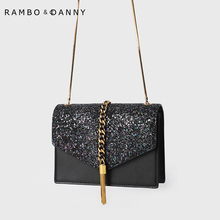 New style of small CK bag lady bag 2019 fashion Singapore limited Baoxing sky chain bag with one shoulder and one shoulder inclined bag