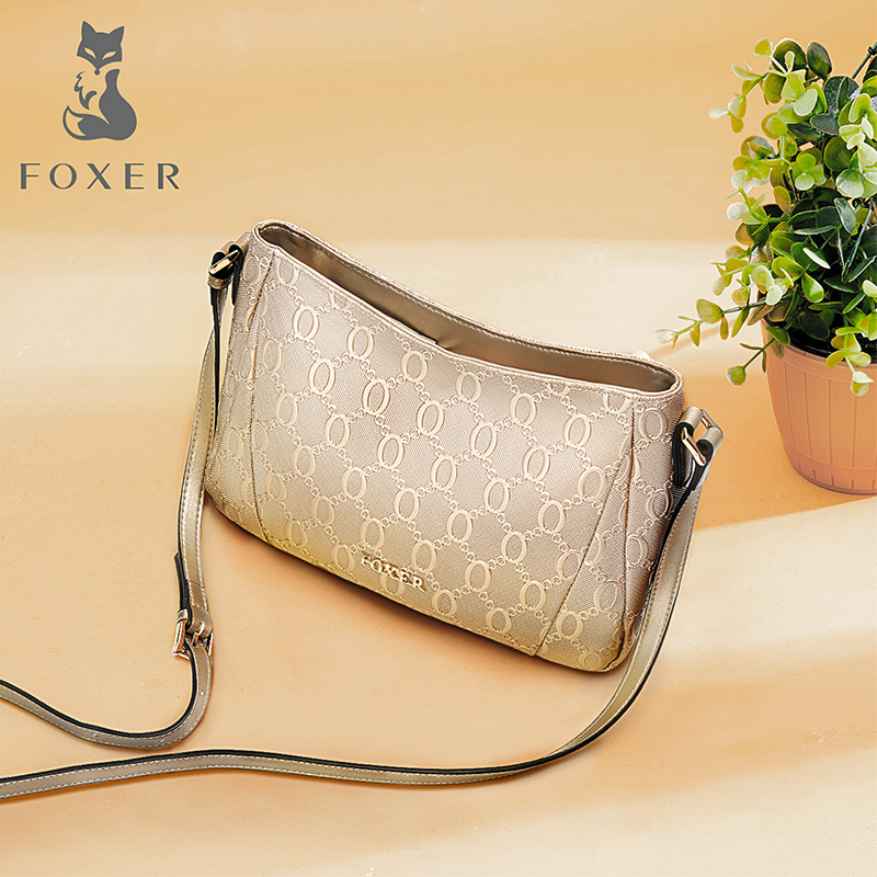 Golden Fox bag female 2018 new middle-aged mother soft leather cowhide shoulder bag female small bag Messenger bag female