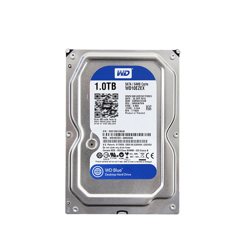 WD/Western Data WD10EZEX 1T Blue Disk Desktop Hard Disk West Number 1TB Mechanical Single Disk Blue Disk 64M