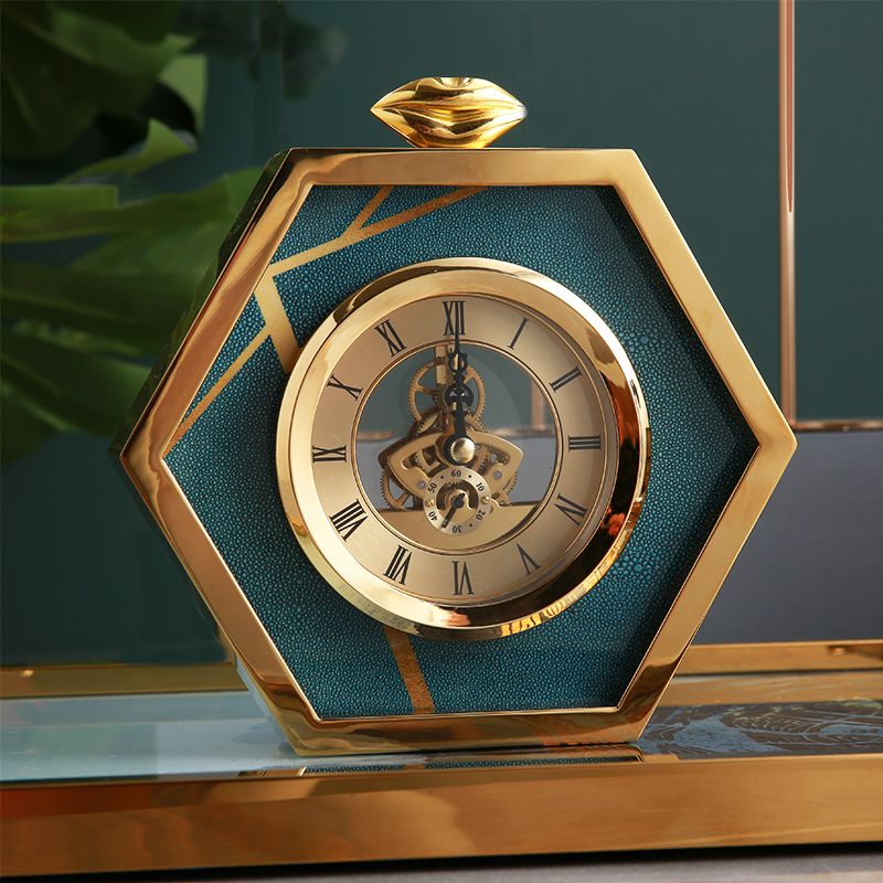 European-style household clocks, living rooms, American bedside clocks, bedrooms, luxurious desktop clocks, fashionable tea tables, desktop decorations