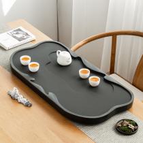 Household Wujinshi tea tray Whole living room simple stone size tea table Tea set drainage tea sea can be customized