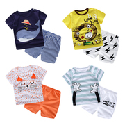 Summer Infant Baby clothes cotton short sleeved suit summer dresses shorts T-shirt boys aged 0-1-2-3