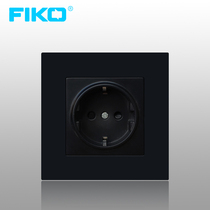 FIKO FIKO Mercure German Euro Standard 86 Euro German Standard 16A deep wall power socket panel