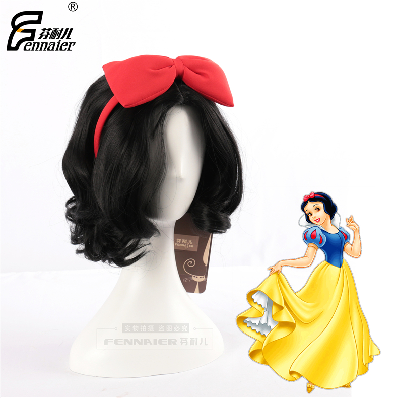Finnell Disney Snow White's short curly black role as cos animation counterfeit finds