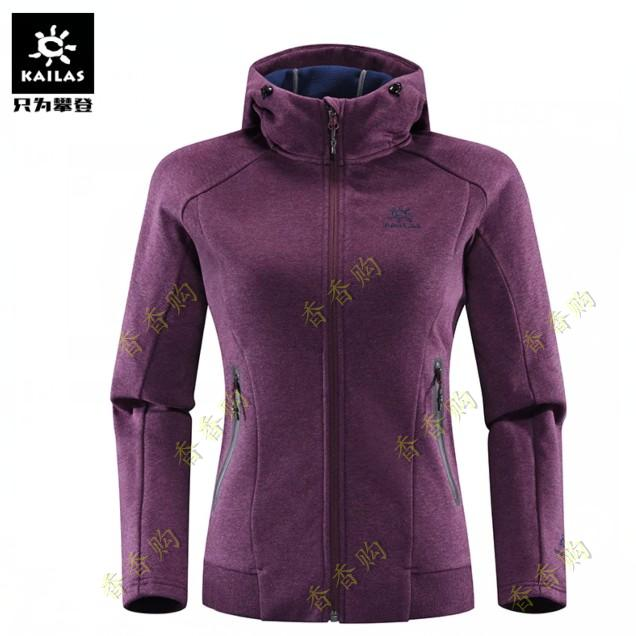 Kaile stone ladies thick soft shell hoodie top KG820157