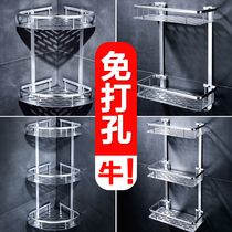 Bathroom rack toilet toilet toilet triangle bath free of punch wall hanging dressing room