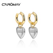 Caromay letter love earrings earrings simple retro French pendant small INS web celebrity temperament earrings