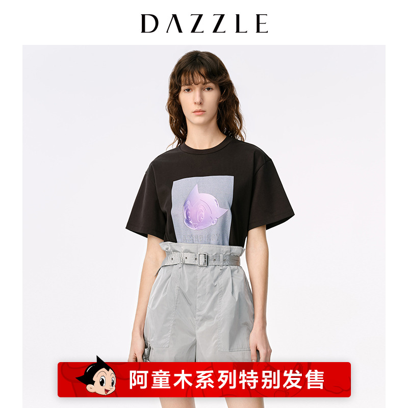 Dazzle Disu 2020 spring new futuristic feeling Astro Boy breathable offset T-shirt for women 2c1b3101a