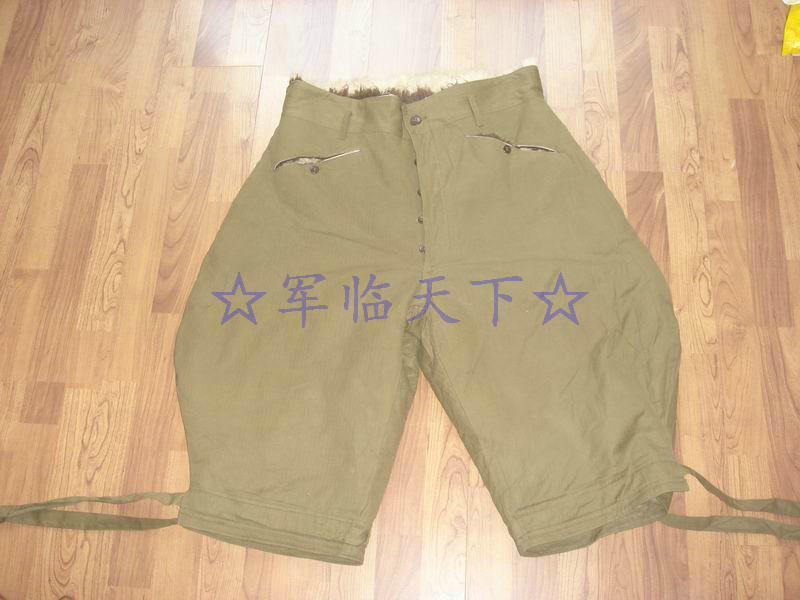 Rare 55 earthen characters of cavalry pure sheepskin pants Meng-style fur all-in-one leather horse pants flying motorcycle racing