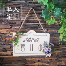 Wooden double-sided listing of American-style creative retro-fashion welcome welcome to shop in business