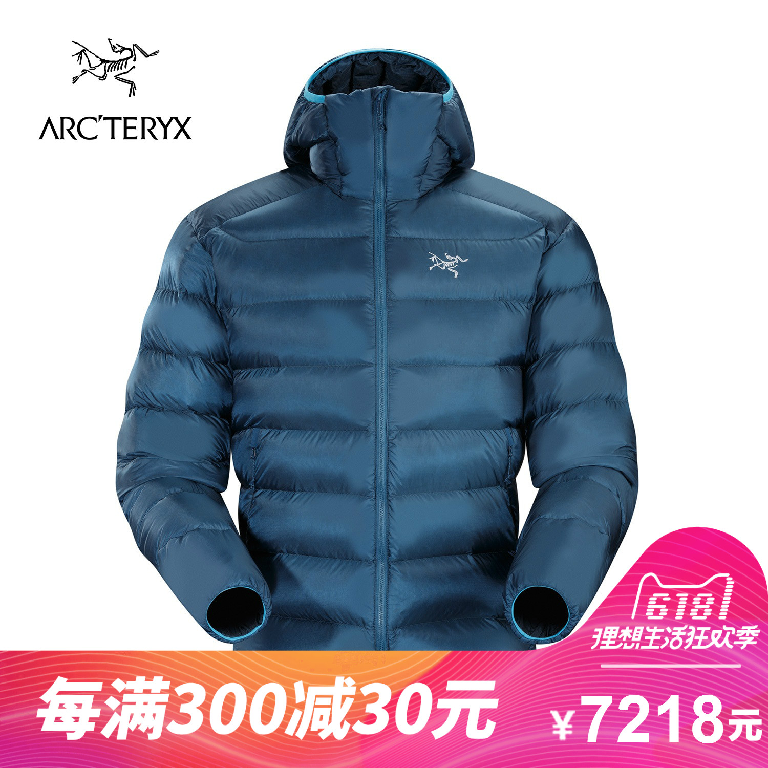 ARCTERYX/Archaeopteryx Men's Outdoor Lightweight Windbreak Warm Down Suit Cerium SV 14651
