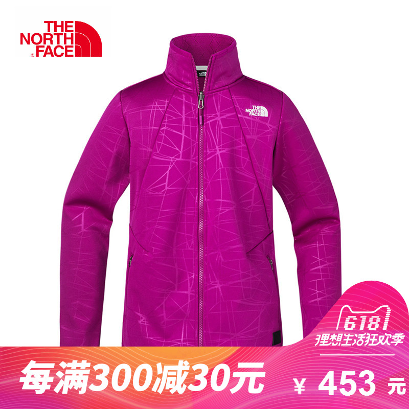 The NORTH FACE/North Women's Outdoor Splash-proof Embossed Composite Collar Grab Suede Card A2UEC