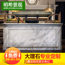 Natural marble Countertop Custom windowsill stone windowsill plate artificial stone bar marble railing Fence