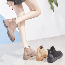 2018 spring and autumn season, the new Korean version of Martin's boots, flat bottomed boots, chic boots, Chelsea boots.