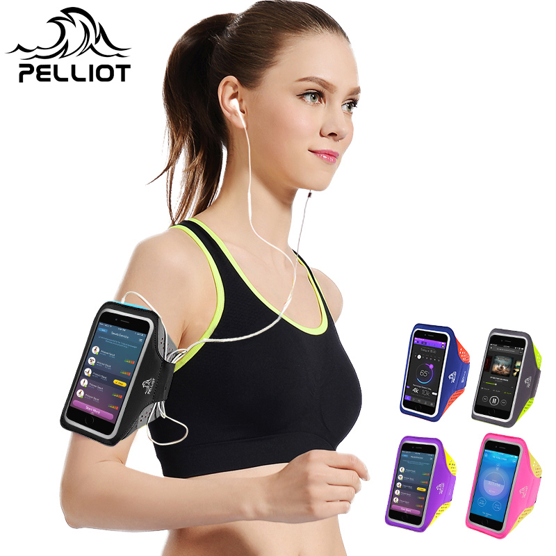 France PELLIOT Running Mobile Arm Bag Male Wrist Bag Fitness Sports Apple Mobile Arm Bracket Arm Bag