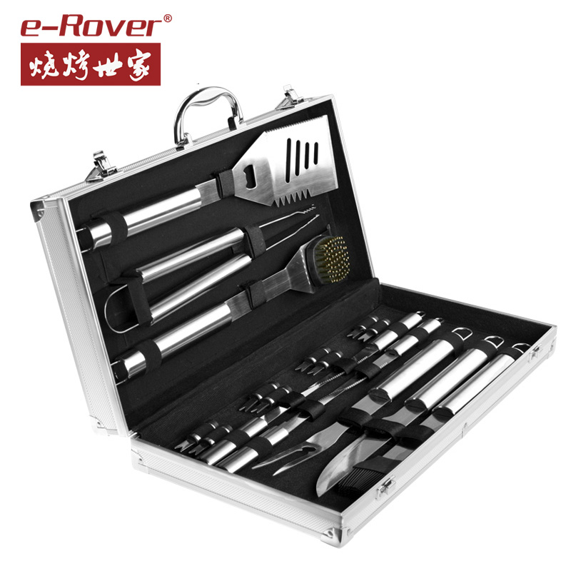 eRover BBQ Stainless Steel Barbecue Forks Outdoor BBQ Appliances Household BBQ Tools Accessories Set